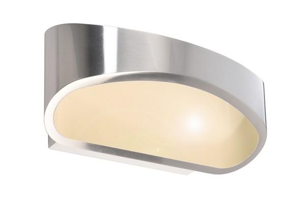 Deko-Light Wandaufbauleuchte, Acamar, Aluminium Druckguss, silberfarben, Warmweiß, 104°, 5W, 230V