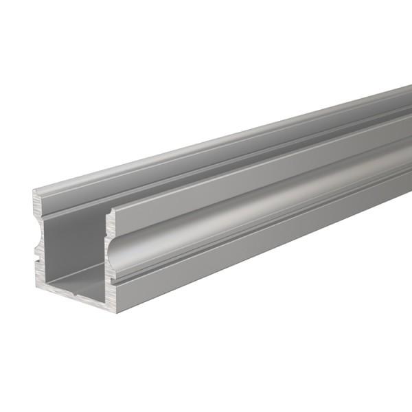 Reprofil, U-Profil hoch AU-02-08 für LED Stripes bis 9,3 mm, Silber-matt, eloxiert, 1000 mm