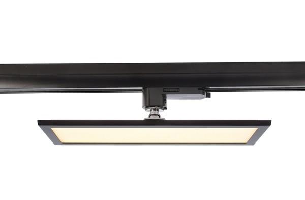 Deko-Light Schienensystem 3-Phasen 230V, Panel Track Light, Aluminium, schwarz mattiert, Warmweiß