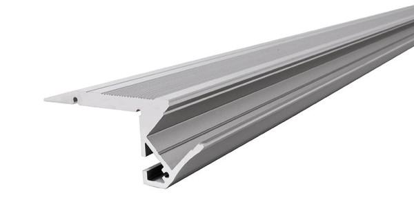 Reprofil Profil, Treppenstufen-Profil AL-01-10, Aluminium, Silber-matt eloxiert, 2000mm