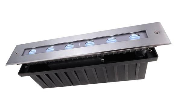 Deko-Light Bodeneinbauleuchte, Line III RGB, Edelstahl, silberfarben, RGB, 35°, 16W, 24V, 328x63mm