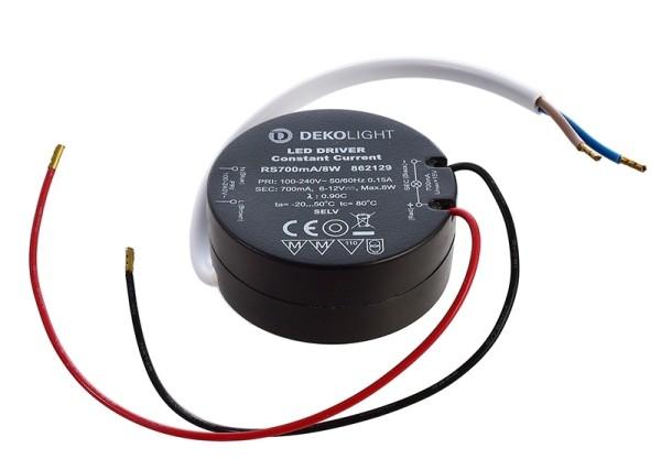 Deko-Light Netzgerät, ROUND, RS700mA/8W, Kunststoff, Schwarz, 8W, 6-12V, 700mA
