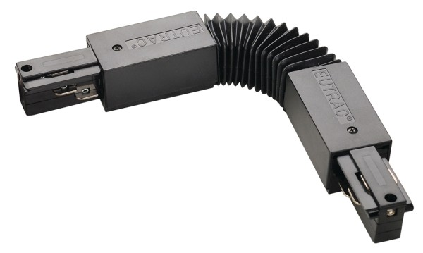 FLEX-VERBINDER, für EUTRAC Hochvolt 3Phasen-Aufbauschiene, schwarz