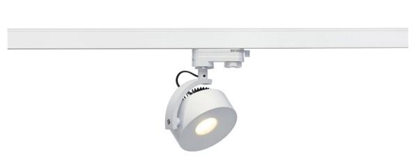 KALU TRACK, Spot für Hochvolt-Stromschiene 3Phasen, LED, 3000K, rund, weiß, inkl. 3Phasen-Adapter