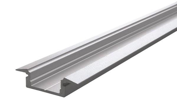Reprofil Profil, T-Profil flach ET-01-10, Aluminium, Silber-matt eloxiert, 1000mm