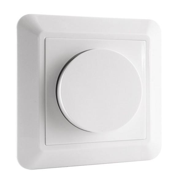 Deko-Light Zubehör, Dimmer Phasenabschnitt, Kunststoff, Weiß, 355W, 230V, 2A, 84x84mm