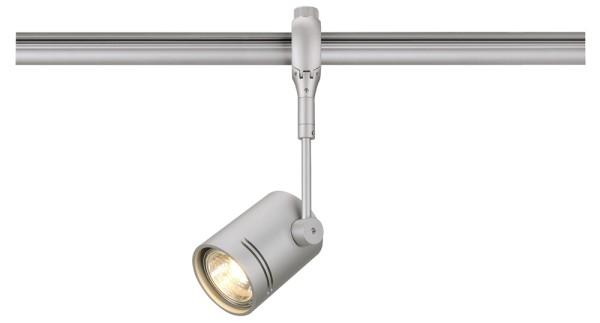 BIMA 1, Spot für Hochvolt-Stromschiene EASYTEC II, QPAR51, einflammig, silbergrau, max. 50W