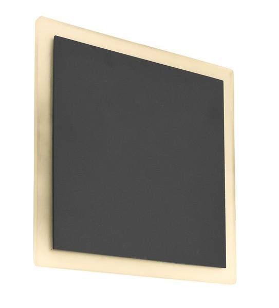Deko-Light Wandaufbauleuchte, Volantis, Aluminium Druckguss, dunkelgrau, Warmweiß, 120°, 16W, 230V