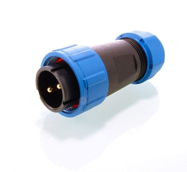 Deko-Light Kabelsystem, Weipu Stecker 2-polig, Kunststoff, 24V