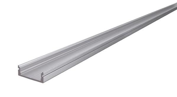 Reprofil Profil, U-Profil flach AU-01-15, Aluminium, Silber-matt eloxiert, 3000mm