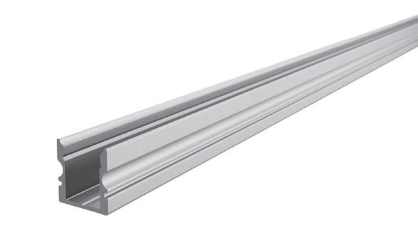 Reprofil Profil, U-Profil hoch AU-02-08, Aluminium, Silber-matt eloxiert, 2000mm