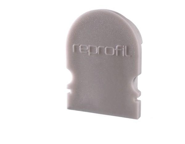 Reprofil Profil Zubehör, Endkappe R-AU-02-12 Set 2 Stk, Kunststoff, Grau, 18x6mm