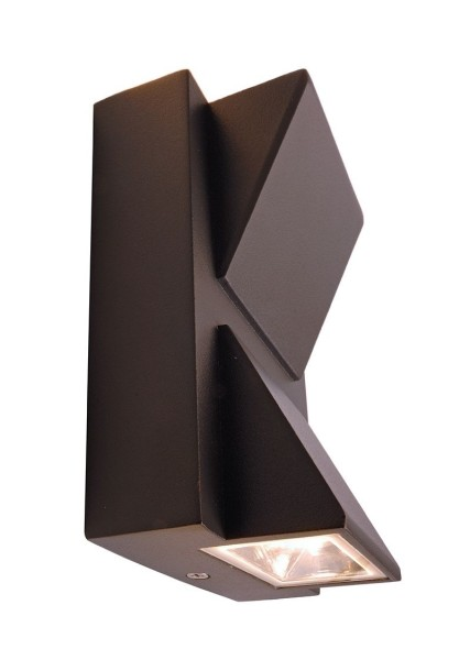 Deko-Light Wandaufbauleuchte, Agudo II Double, Aluminium Druckguss, anthrazit, Warmweiß, 90°/90°, 3W