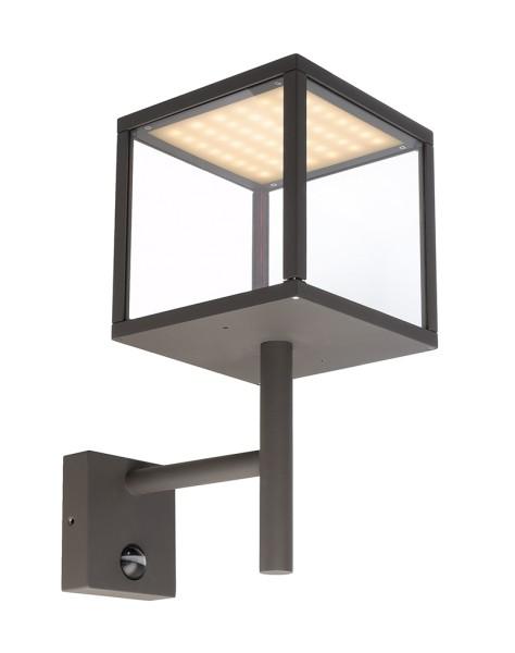Deko-Light Wandaufbauleuchte, Lacertae, Aluminium Druckguss, dunkelgrau, Warmweiß, 120°, 9W, 230V