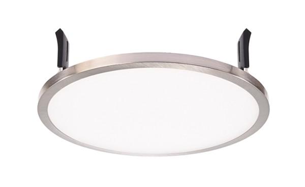 Deko-Light Deckeneinbauleuchte, LED Panel Round II 16, inklusive Leuchtmittel, Silber, gebürstet