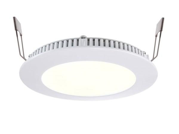 Deko-Light Deckeneinbauleuchte, LED Panel 8, Aluminium Druckguss, Weiß-matt, RGB + Warmweiß, 120°