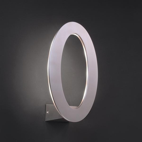 KapegoLED Wandaufbauleuchte, Oval, inklusive Leuchtmittel, Warmweiß, 220-240V AC/50-60Hz, 7,00 W, Al