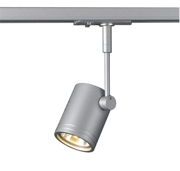 BIMA 1, Spot für Hochvolt-Stromschiene 1Phasen, einflammig, QPAR51, silbergrau, max. 50W