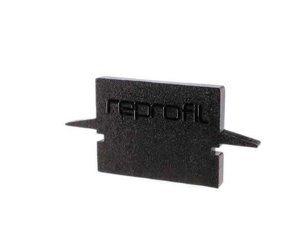 Reprofil Profil Zubehör, Endkappe H-ET-01-10 Set 2 Stk, Kunststoff, Schwarz, 25x6mm