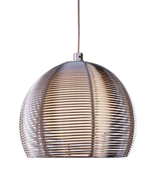 Deko-Light Pendelleuchte, Filo Ball, Metall, silberfarben, 40W, 230V