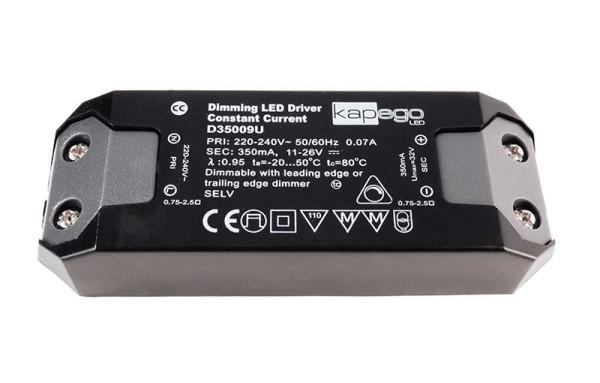 Deko-Light Netzgerät, BASIC, D35009U, Kunststoff, Schwarz, 9W, 11-26V, 350mA, 115x39mm