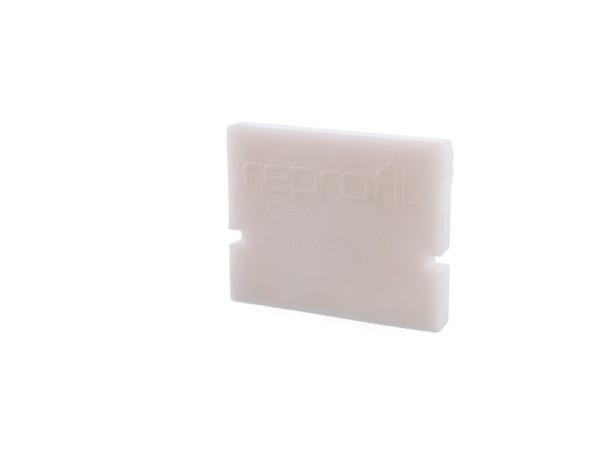 Reprofil Profil Zubehör, Endkappe H-AU-01-08 Set 2 Stk, Kunststoff, Weiß, 14x6mm