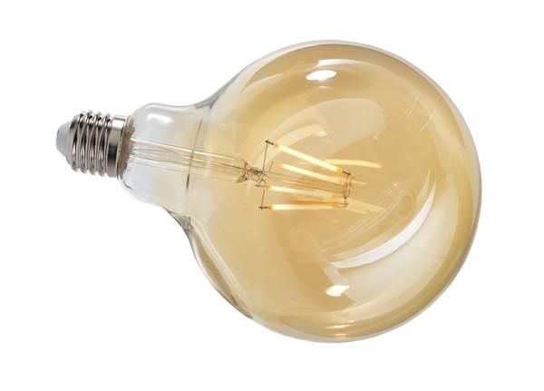Deko-Light Leuchtmittel, Filament E27 G125 2200K, Glas, Amber, Warmweiß, 300°, 4W, 230V, 11mA, 173mm