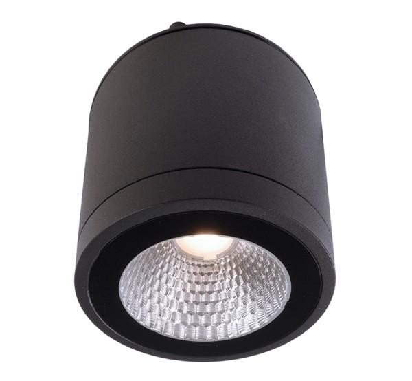 Deko-Light Deckenaufbauleuchte, Mobby II, Aluminium Druckguss, dunkelgrau, Warmweiß, 53°, 9W, 230V