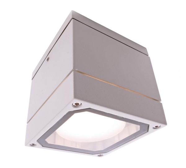Deko-Light Deckenaufbauleuchte, Mob Square II White, Aluminium Druckguss, weiß, 9W, 230V, 108x108mm