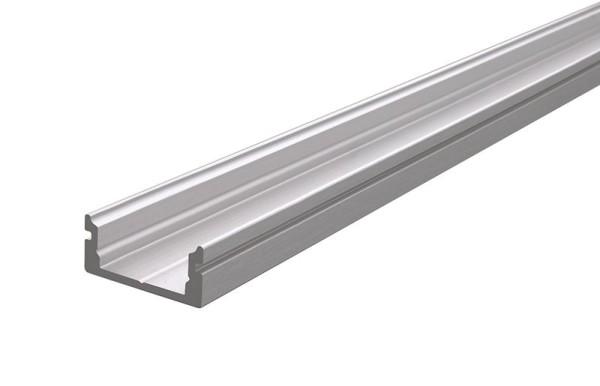 Reprofil Profil, U-Profil flach AU-01-10, Aluminium, Silber gebürstet, 2000mm