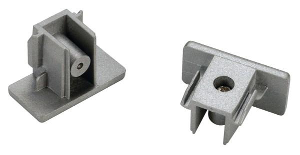 ENDKAPPEN, für Hochvolt 1Phasen-Aufbauschiene, silbergrau, 2 Stück