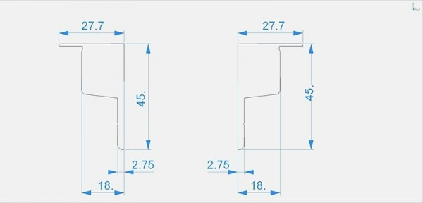 Reprofil Profil Zubehör, Endkappe P-EL-03-10 Set 2 Stk, Kunststoff, Grau, 45mm