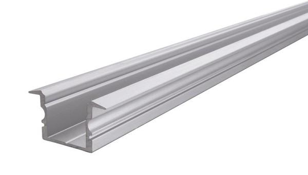 Reprofil Profil, T-Profil hoch ET-02-12, Aluminium, Silber gebürstet, 1000mm