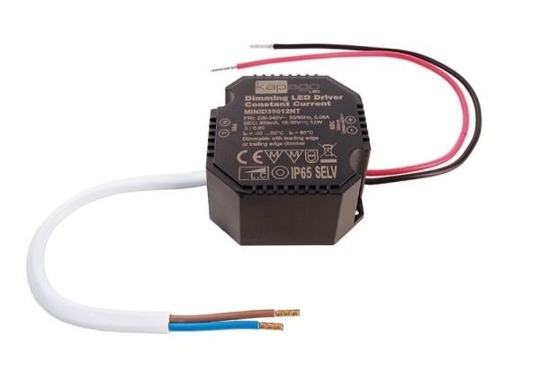 Deko-Light Netzgerät, OCTO, MiniD35012NT, Kunststoff, Schwarz, 12W, 18-35V, 350mA, 50x48mm