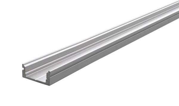 Reprofil Profil, U-Profil flach AU-01-10, Aluminium, Silber-matt eloxiert, 1000mm