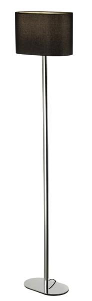 SOPRANA OVAL SL-1, Standleuchte, A60, oval, Schirm schwarz, max. 60W