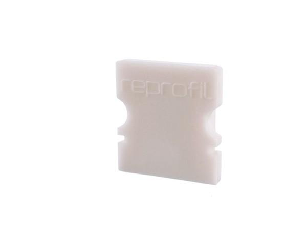 Reprofil Profil Zubehör, Endkappe P-AU-02-08 Set 2 Stk, Kunststoff, Weiß, 14x6mm