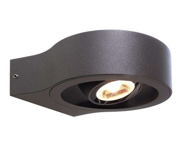 Deko-Light Wandaufbauleuchte, Swive, Aluminium Druckguss, anthrazit, Warmweiß, 17°, 8W, 230V