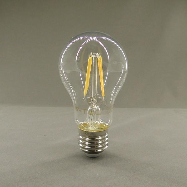 E27 Filament LED Leuchtmittel, 2700K, 4W, 400lm, SMD, A60, birnenförmig