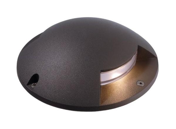 Deko-Light Boden- / Wand- / Deckenleuchte, Helios II, Aluminium Druckguss, dunkelgrau, Warmweiß, 2W