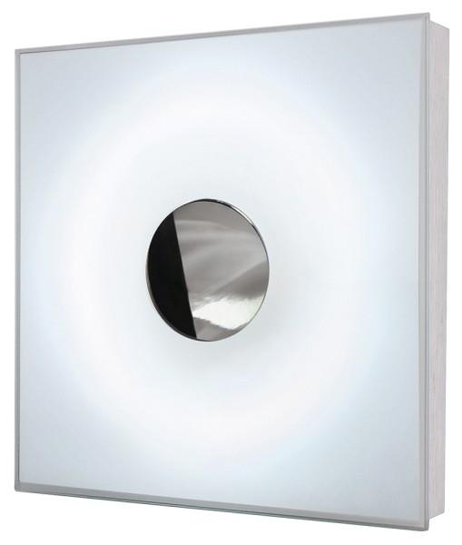 NEODISC, Wand- und Deckenleuchte, T29-R, aluminium gebürstet/chrom, Energiesparleuchte, max. 32W