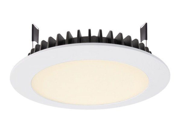 Deko-Light Deckeneinbauleuchte, LED Panel Round III 20, Aluminium Druckguss, weiß, Warmweiß, 100°