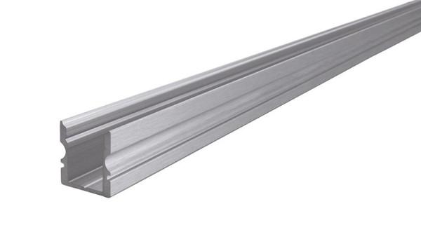Reprofil Profil, U-Profil hoch AU-02-08, Aluminium, Silber gebürstet, 1000mm