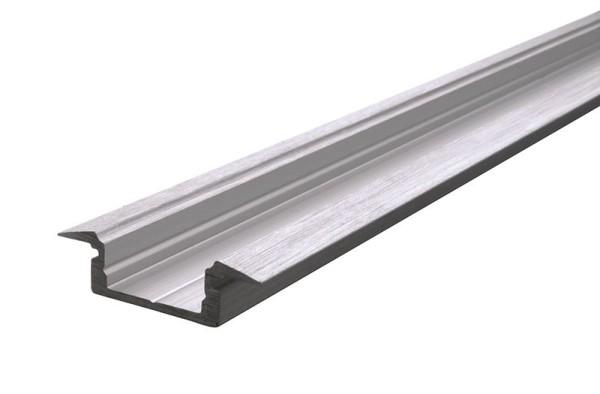 Reprofil Profil, T-Profil flach ET-01-10, Aluminium, Silber gebürstet, 2000mm