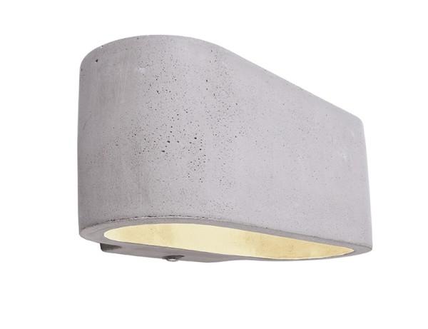 Deko-Light Wandaufbauleuchte, Atria, Beton, grau, 25W, 230V, 180x100mm