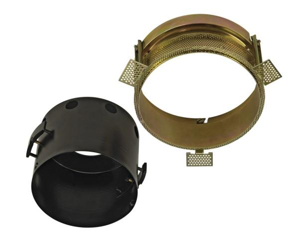 EINBAURAHMEN 1 FRAMELESS, für AIXLIGHT PRO, rund, schwarz, Ø/H 15,5/12 cm, inkl. Einbaurahmen