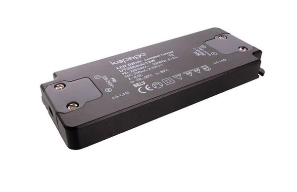 Deko-Light Netzgerät, FLAT, UT350mA/12W, Kunststoff, Schwarz, 12W, 2-35V, 350mA, 128x50mm