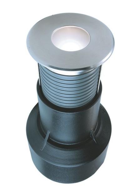 Deko-Light Bodeneinbauleuchte, Basic Round I WW, Edelstahl, silberfarben, Warmweiß, 60°, 24V