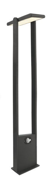 Deko-Light Stehleuchte, Solar Premium I, Aluminium, dunkelgrau, Warmweiß, 110°, 1W, 3V, 200x151mm