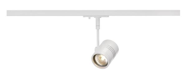 BIMA 1, Spot für Hochvolt-Stromschiene 1Phasen, einflammig, QPAR51, weiß matt, max. 50W